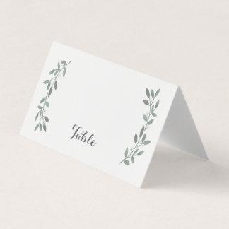 Elegant Eucalyptus Wedding Suite Table Placecard Place Card