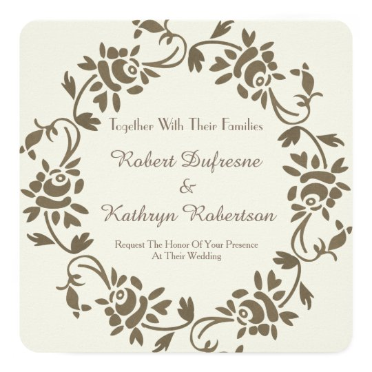 Elegant European Floral Wedding Invitation