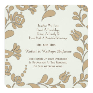 Elegant European Folk Art Wedding Vow Renewal Card