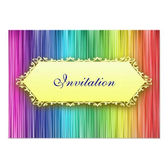 Elegant Events Rainbow Curtain Invitation