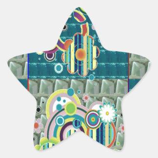 Elegant Exotic Artistic Pattern Stone Crystal GIFT Star Sticker