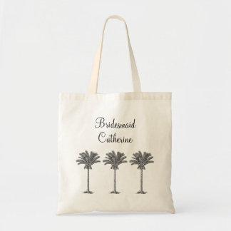 Elegant Exotic Palm Tree Custom Wedding Bridesmaid Bags