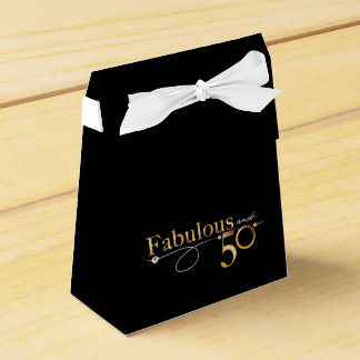 Elegant Fabulous and 50 Favour Box