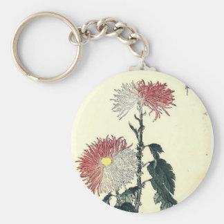 Elegant Fall Flowers Keychains