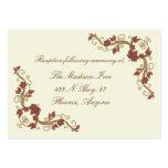 Elegant Fall Wedding enclosure cards Business Cards