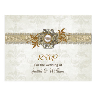 Elegant Fall Wedding RSVP Post Card