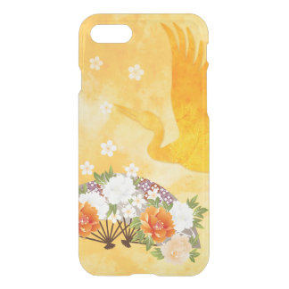 Elegant Fans and Crane iPhone 7 Clearly™ Deflector iPhone 8/7 Case