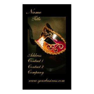 Elegant Fantasy Masquerade Mask Business Card