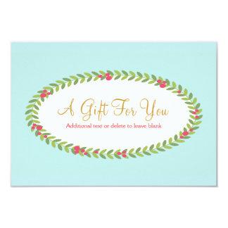 Elegant Fashion & Beauty Holiday Gift Certificate 9 Cm X 13 Cm Invitation Card