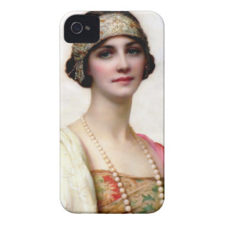 Elegant Fashion Woman painting iPhone 4 Case-Mate Case
