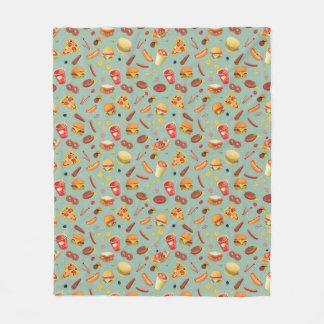 Elegant Fast Food Pattern Fleece Blanket