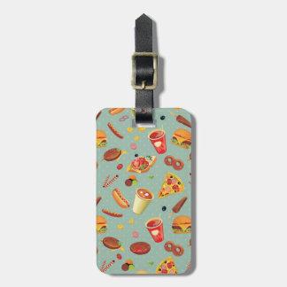 Elegant Fast Food Pattern Luggage Tag