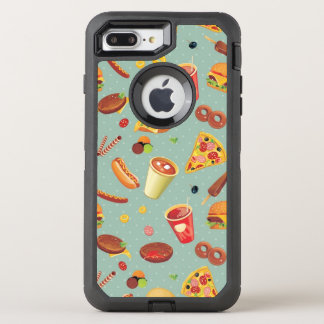 Elegant Fast Food Pattern OtterBox Defender iPhone 8 Plus/7 Plus Case