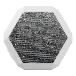 Elegant Faux Black Glitter