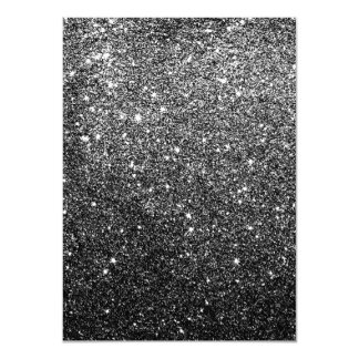 Elegant Faux Black Glitter 11 Cm X 16 Cm Invitation Card