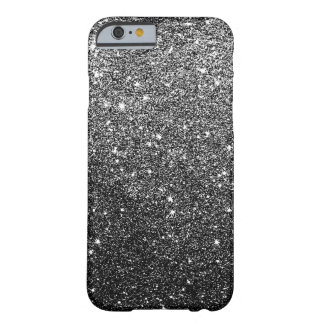 Elegant Faux Black Glitter iPhone 6 case