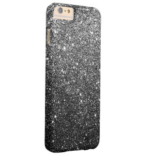 Elegant Faux Black Glitter Luxury Barely There iPhone 6 Plus Case