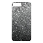 Elegant Faux Black Glitter Luxury iPhone 7 Plus Case