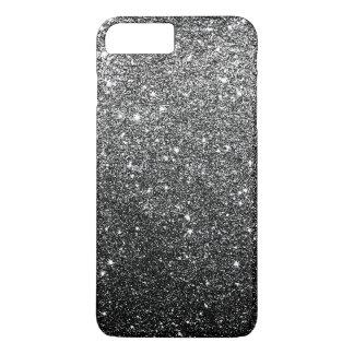 Elegant Faux Black Glitter Luxury iPhone 8 Plus/7 Plus Case