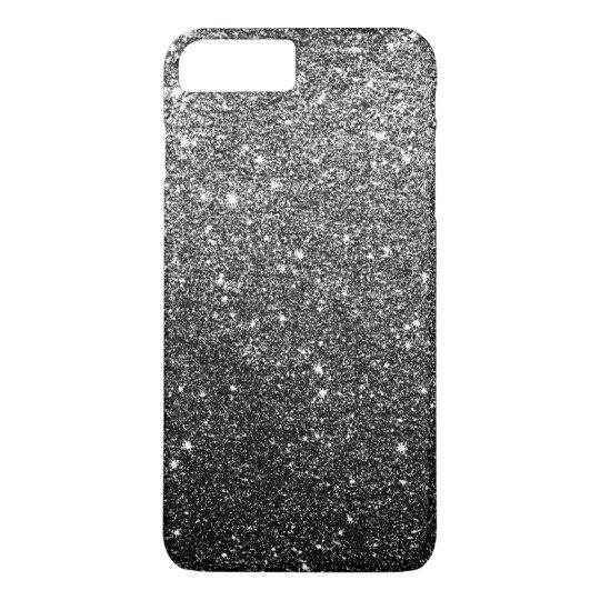 Elegant Faux Black Glitter Luxury iPhone 8 Plus/7
