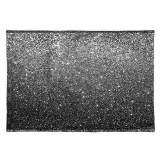 Elegant Faux Black Glitter Placemats