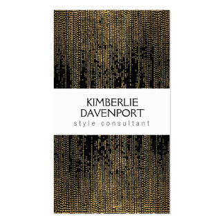 Elegant Faux Gold Confetti Dots on Black II Pack Of Standard Business Cards