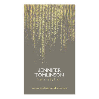 Elegant Faux Gold Confetti Dots on Dark Gray Double-Sided Standard Business Cards (Pack Of 100)
