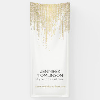 Elegant Faux Gold Confetti Dots on White