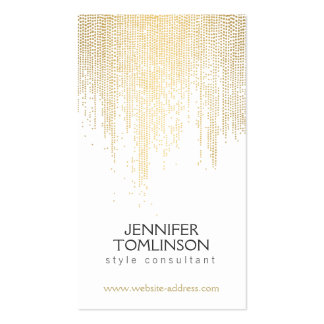 Elegant Faux Gold Confetti Dots on White Pack Of Standard Business Cards