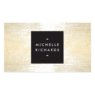 Elegant Faux Gold Confetti Dots on White II Pack Of Standard Business Cards