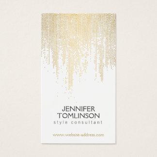 Elegant Faux Gold Confetti Dots Pattern