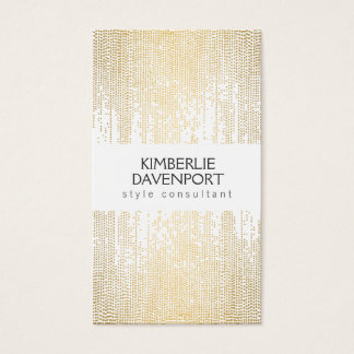 Elegant Faux Gold Confetti Dots Pattern II Business Card