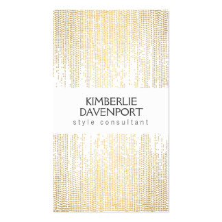 Elegant Faux Gold Confetti Dots Pattern II Pack Of Standard Business Cards