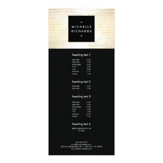 Elegant Faux Gold Confetti Dots Rack Card