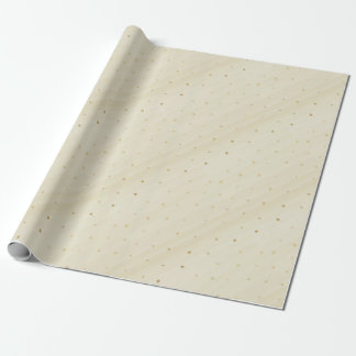 Elegant Faux Gold Confetti Glitter Wrapping Paper