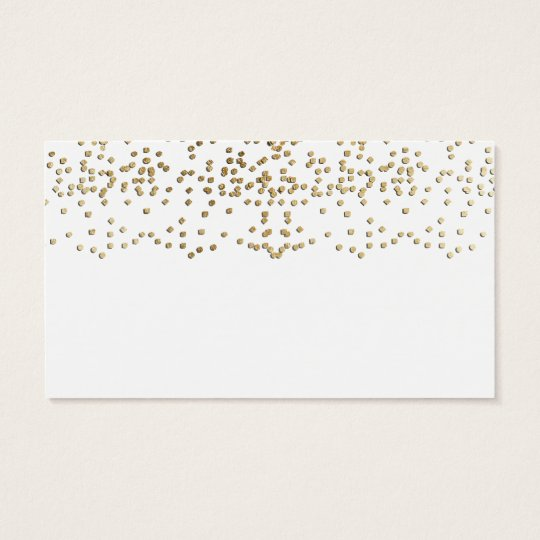 Elegant Faux Gold Confetti Pattern Business Card