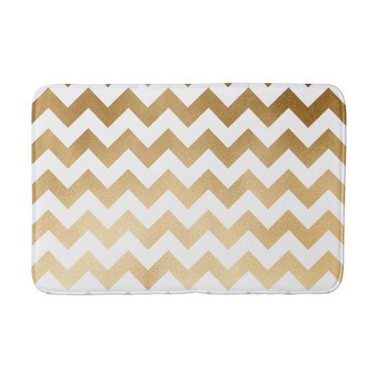 elegant faux gold foil and white chevron pattern