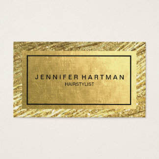 Elegant Faux Gold Foil Business Card