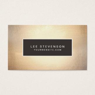 Elegant Faux Gold Foil Luxurious Vintage Business Card