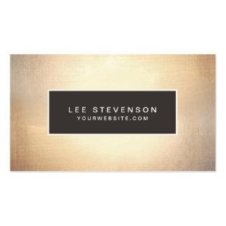 Elegant Faux Gold Foil Luxurious Vintage Pack Of Standard Business Cards