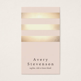 Elegant Faux Gold Foil Striped Modern Light Pink