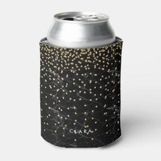 elegant faux gold glitter confetti black marble