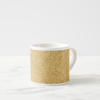 Elegant Faux Gold Glitter Espresso Cup