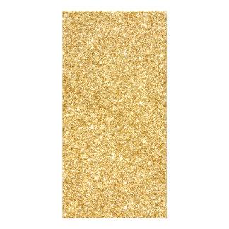 Elegant Faux Gold Glitter Picture Card