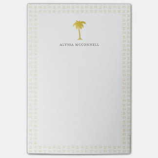 Elegant Faux Gold Pine Tree Post-it® Notes