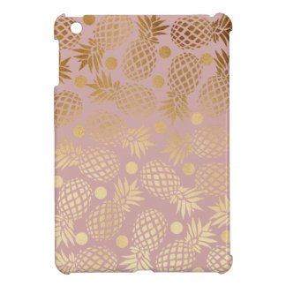 elegant faux gold pineapple pattern polka dots case for the iPad mini