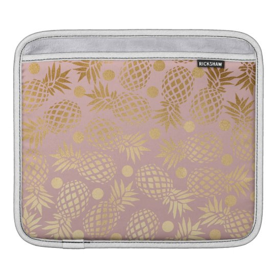 elegant faux gold pineapple pattern polka dots iPad