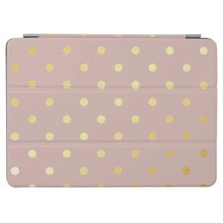 elegant faux gold pink polka dots iPad air cover