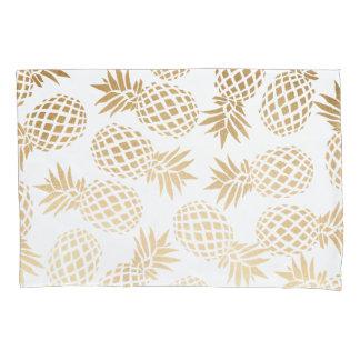 elegant faux gold tropical pineapple pattern pillowcase