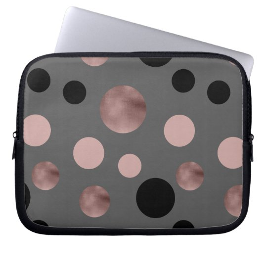 elegant faux rose gold blush pink black circles